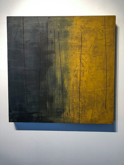 """Untitled #4"" (large panels), 24 x 24"", mixed media on panel"