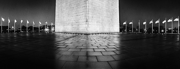 """Washington Monument Plaza"", digital photographic print"