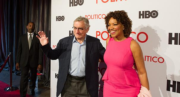 "POLITICO hosts a Cocktails and Conversation event with Robert De Niro as part of the White House Correspondence Association event May 2, 2014 in Washington, D.C. Robert De Niro unveiled the HBO documentary tribute to his father, ""Remembering the Artist, Robert De Niro, Sr.,"" following its acclaim at this year's Sundance Film Festival. The exclusive East Coast premiere is hosted by POLITICO and HBO and features an intimate Q & A session with Robert De Niro, film producers Perri Peltz and Geeta Gandbhir, and POLITICO's Mike Allen. (Rod Lamkey Jr. for POLITICO)"