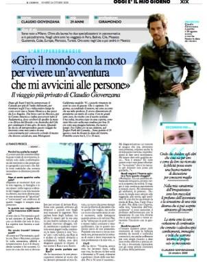 Articolo Giorno di Milano Claudio Giovenzana longwalk