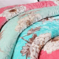 100 Polyester Sofa Throws Best Replacement Foam Cushions Soft Quilt Blanket Comfortable Floral Printed For Bed