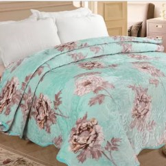 100 Polyester Sofa Throws Black Leather Electric Recliner Soft Quilt Blanket Comfortable Floral Printed For Bed