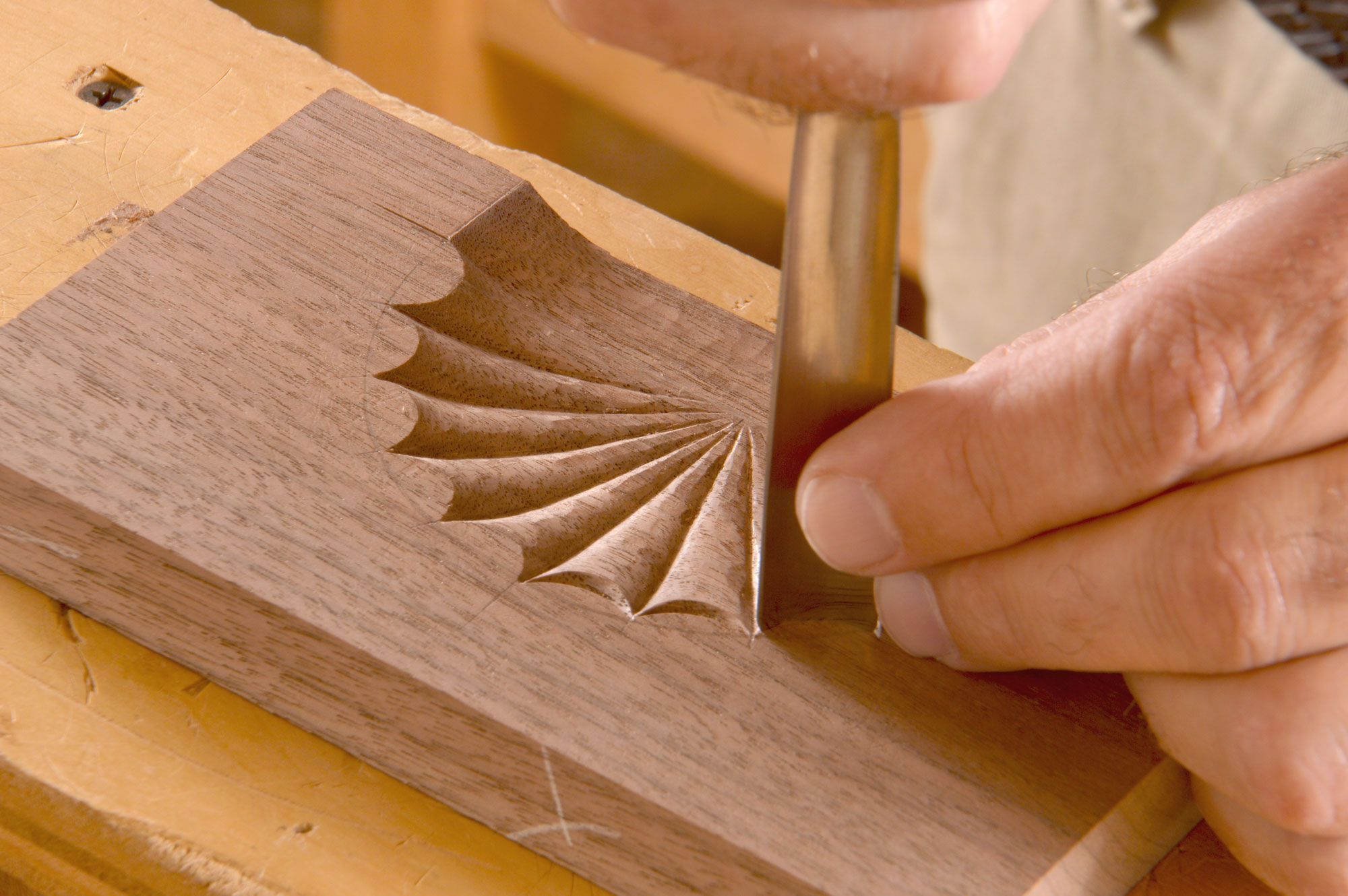 carving a fan for