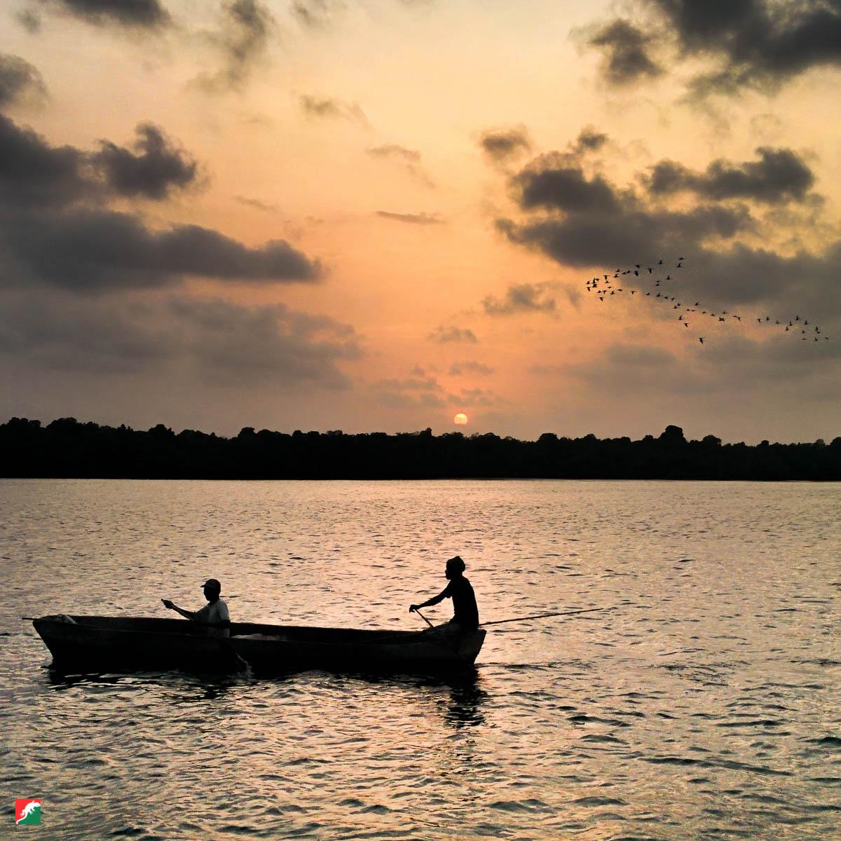 Fishermen on the Mida Creek