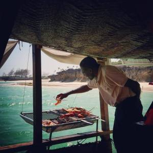 Barbecue on the dhow