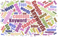10 SEO Blog Word Cloud