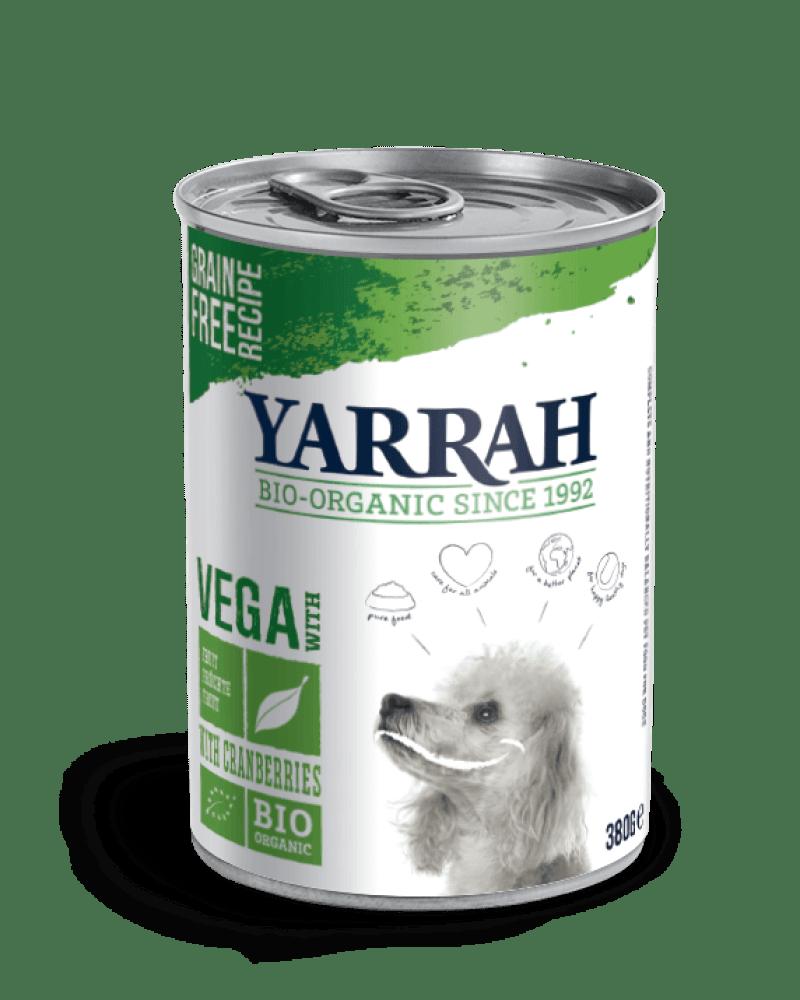 Orgaaniline VEGAN koerakonserv jõhvikatega YARRAH 380g