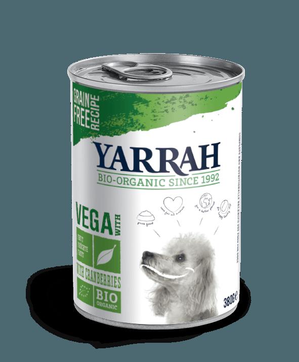 Koerakonserv Orgaaniline VEGAN koerakonserv jõhvikatega YARRAH 380g koerakonserv