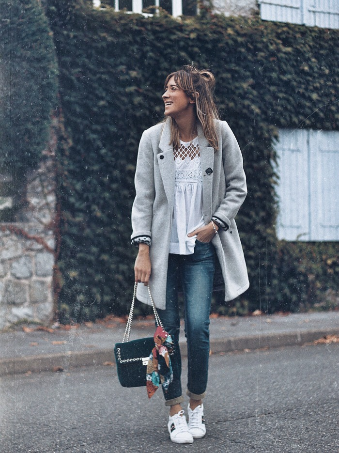 OUTFIT CON VAQUEROS OSCUROS  Look and Chic