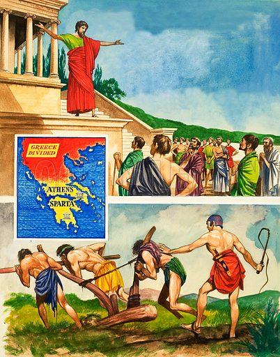 War Spartan Athenian Map And