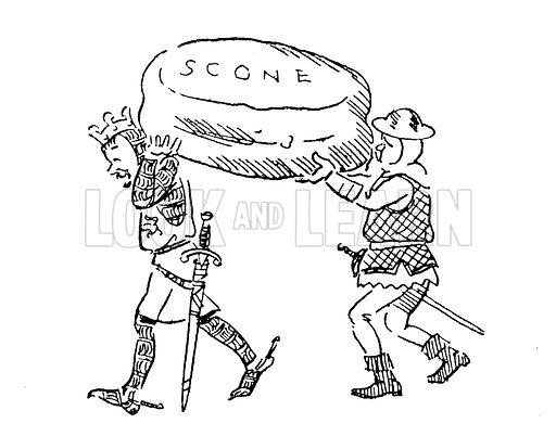 King Edward I stealing the Stone of Scone stock image