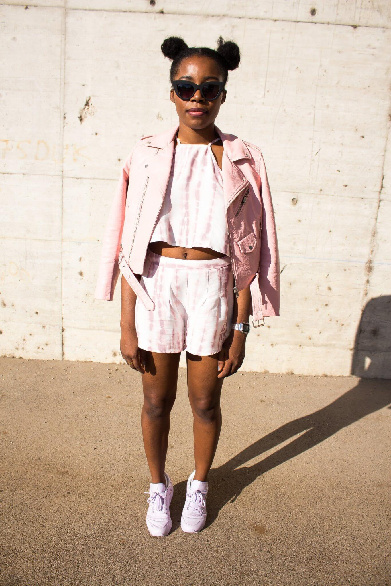 Pink;Coord;Two Piece Set; Forever 21; Pink Faux Leather Jacket; Zara; Reebok Classic Stockholm;