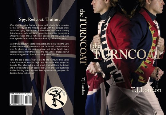 the Turncoat book jacket design by Steve Miller of www.LookAtMyDesigns.com