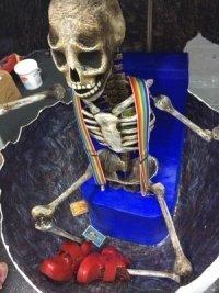 Skeleton Robin Williams