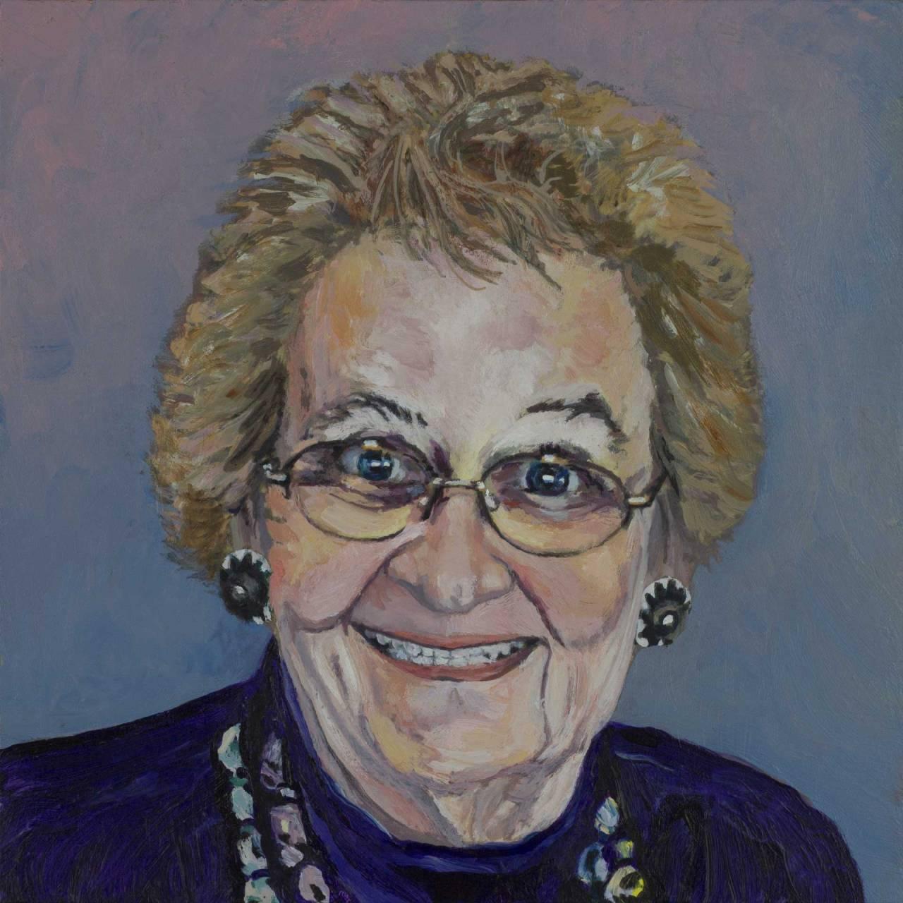 acrylic portrait painting by Steve Miller