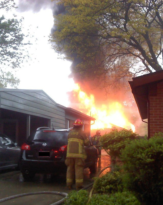 my studio on fire