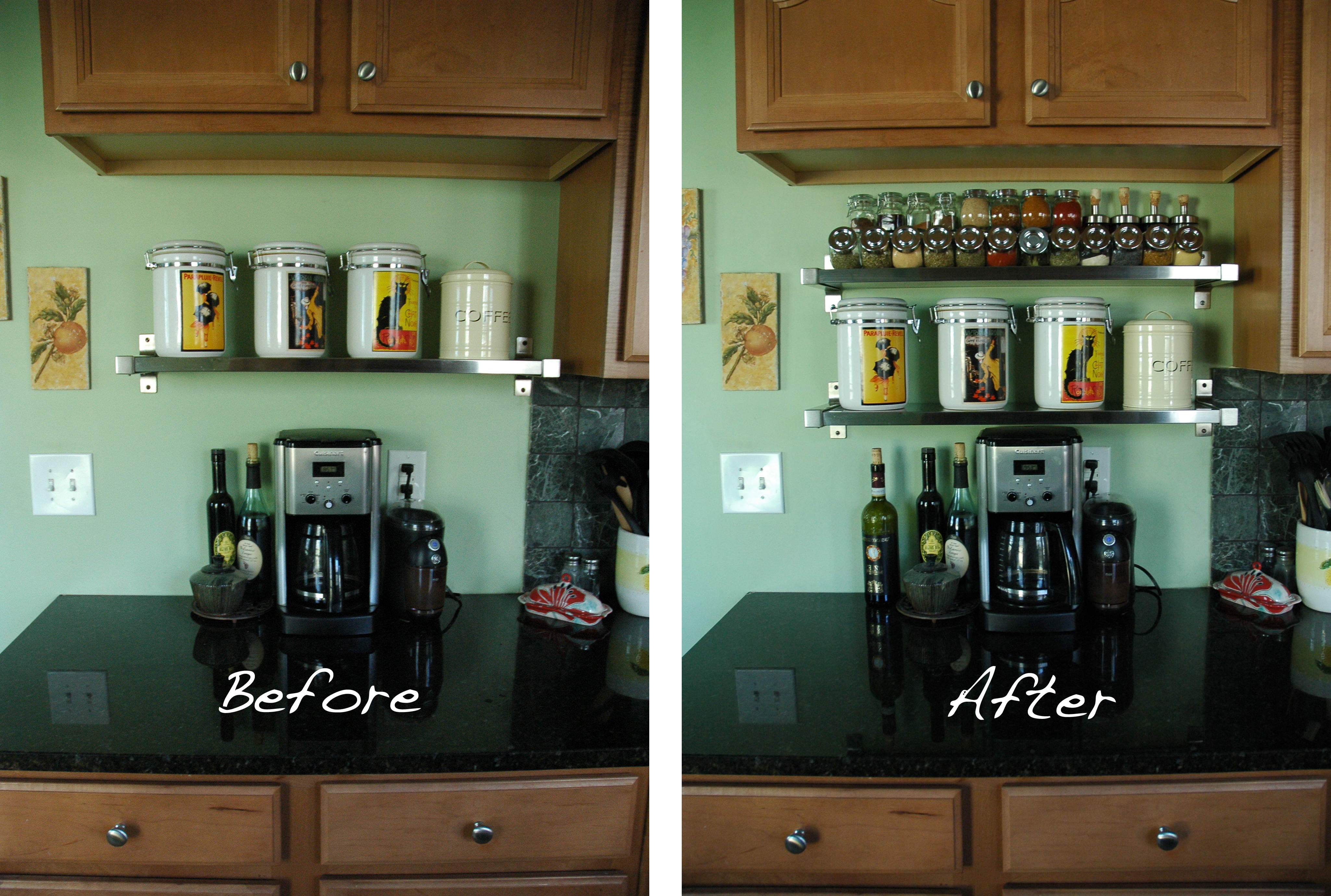 kitchen cabinet spice rack lowes cabinets in stock diy reorganizing my look between the