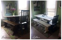 DIY Craft Project: Dining Room Table Repaint | Look ...
