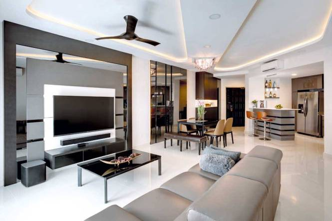 Elegance To An Odd Shaped Apartment