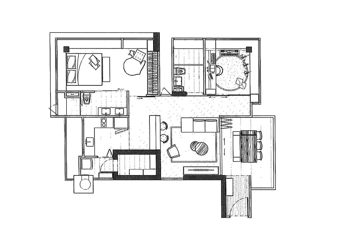 Reconfiguring a 3-bedroom condo for a modern look and feel
