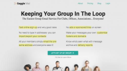 email management website copy