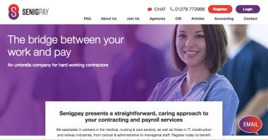 umbrella company website content