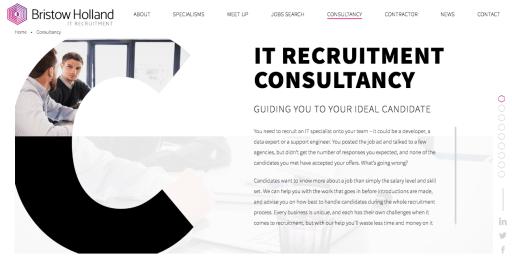 IT Recruitment company website content