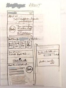 website copy sketch