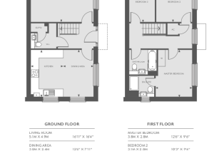 Floor plan in property brochure