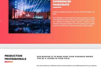 Event Production web copy