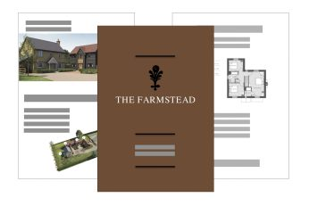 Farmstead brochure mockup