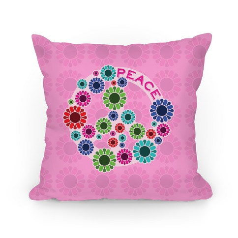 Floral Peace Sign  Pillows and Pillow Cases  HUMAN