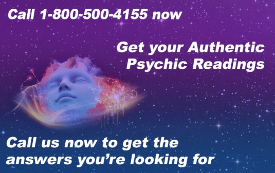 Call 1-800-500-4155 now to Get your Authentic Psychic Readings. Call us now to get the answers you're looking for.