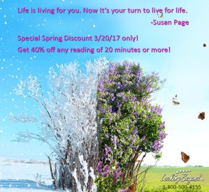 Spring Discount 2017 - Call Looking Beyond Master Psychic Readers 1-800-500-4155 now!