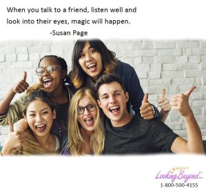 When you talk to a friend - Call Looking Beyond Master Psychic Readers 1-800-500-4155 now!