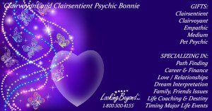 Clairvoyant and Clairsentient Psychic Bonnie - Looking Beyond Master Psychics