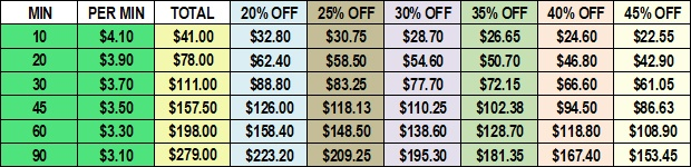 Psychic Reading Pricing
