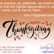 Happy Thanksgiving - Looking Beyond Master Psychics