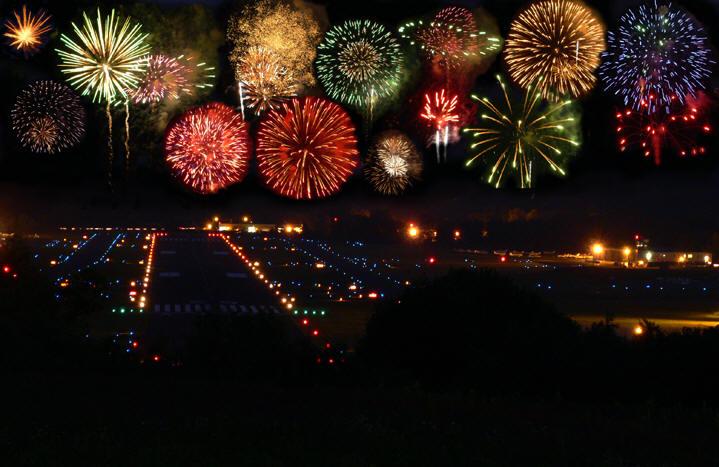 Danbury Airport Fireworks at the Danbury Fair Mall in Connecticut