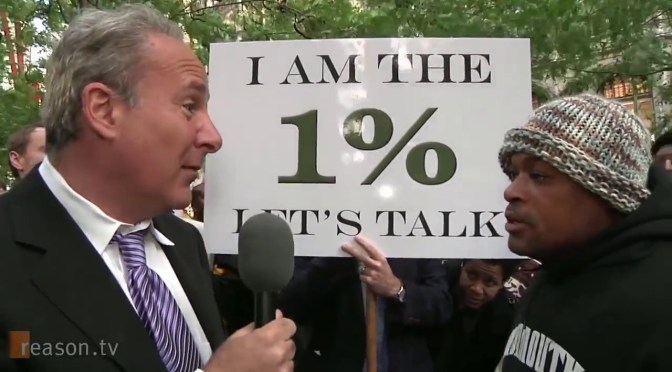 Businessman wrecks every Bernie supporter ever at Occupy protest