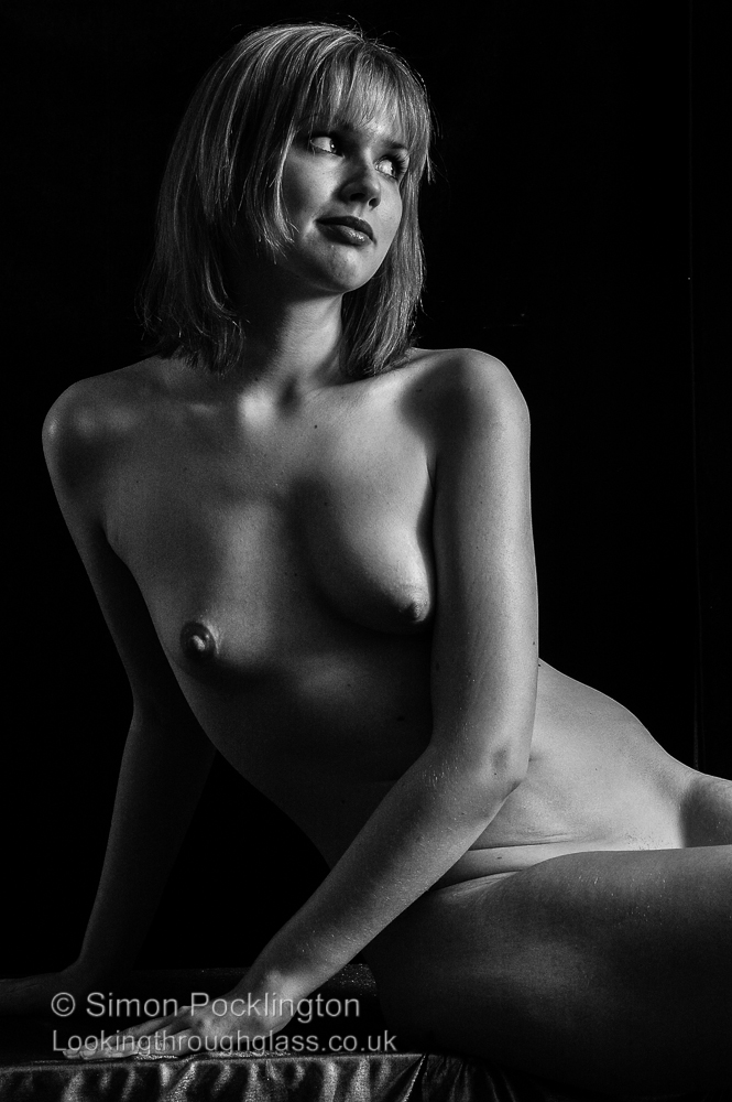Black and white nude woman photograph