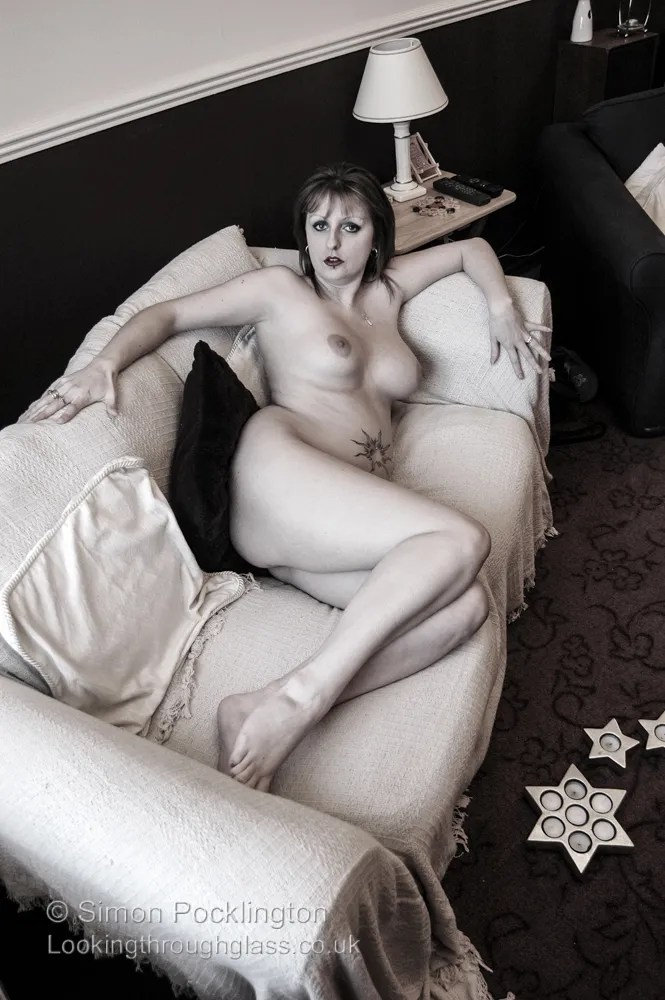 Nude in living room