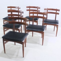 Danish Modern Dining Chair Foldable Sofa Set Of Six Rare Chairs Designed By Poul Hundevad