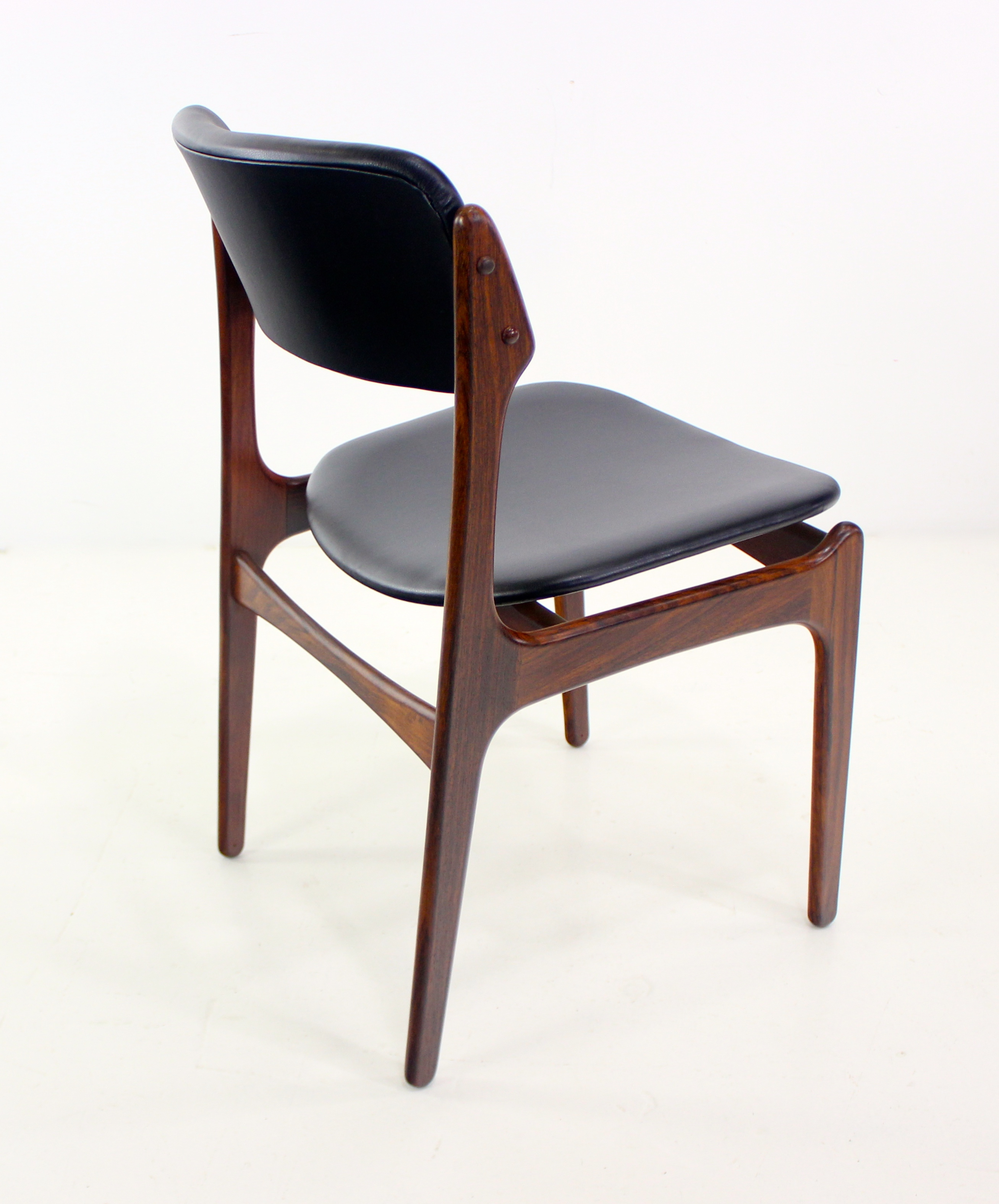 erik buck chairs rolling commode chair eight danish modern rosewood dining designed by