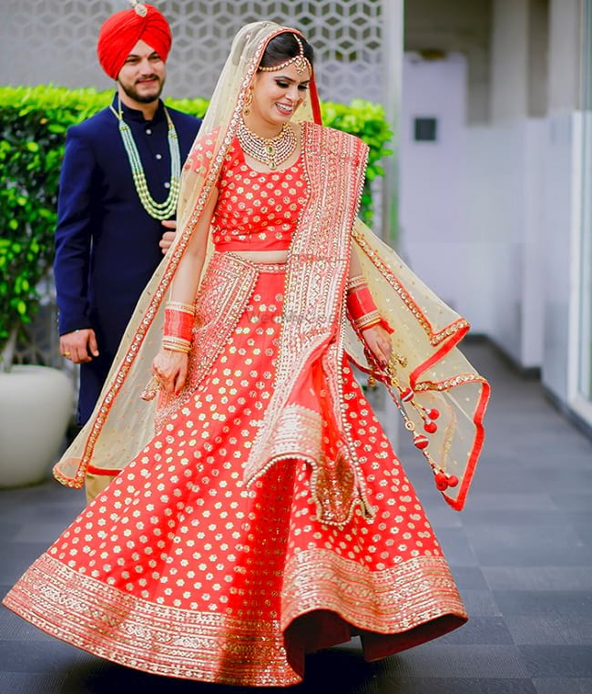 Punjabi Suit Cute Girl Wallpaper 35 Punjabi Bridal Lehenga Styles That You Would Want To