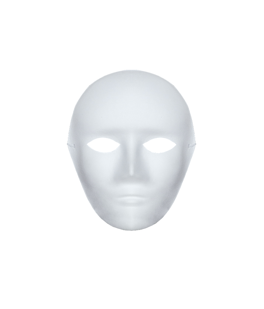 plain paintable paper mask
