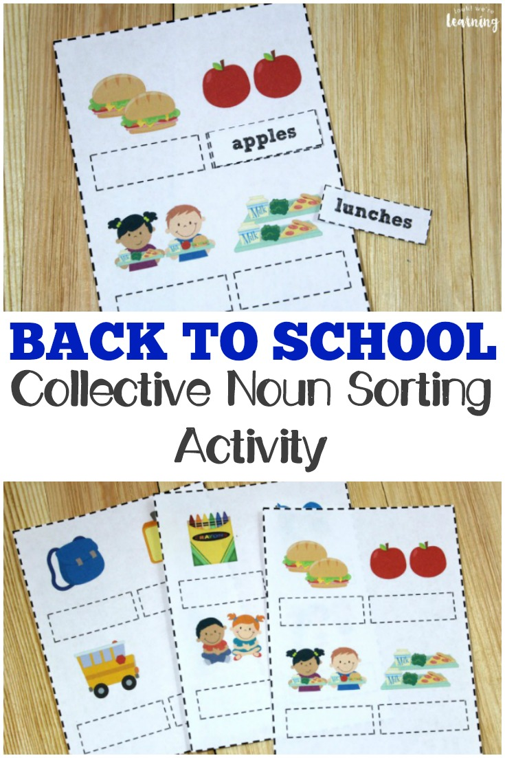medium resolution of Back to School Noun Practice for Second Grade - Look! We're Learning!