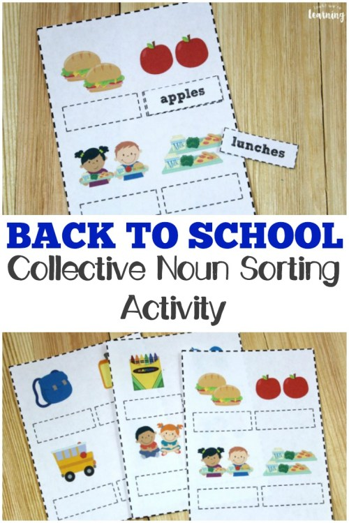 small resolution of Back to School Noun Practice for Second Grade - Look! We're Learning!