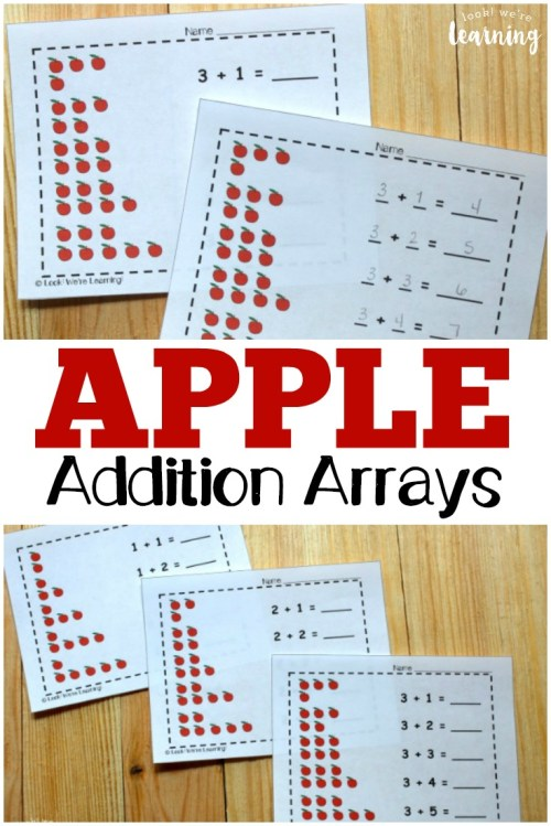 small resolution of Apple Array Practice for Second Grade - Look! We're Learning!