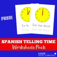 Number Names Worksheets  Telling Time In Spanish